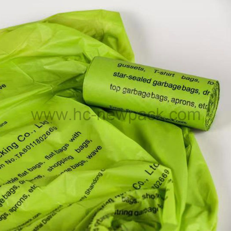 Green Biodegradable Compostable Bag