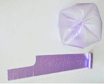 Hdpe Star-sealed Garbage Bag With Handle