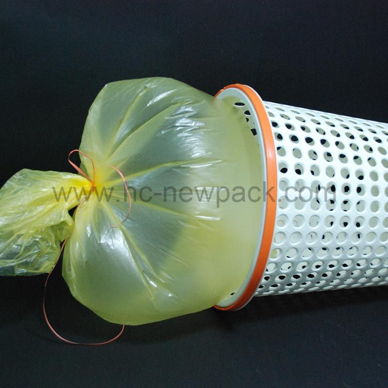 Star-sealed Garbage Bag with Pp String
