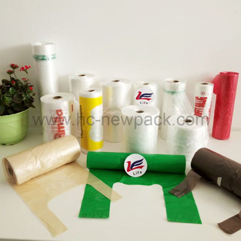 Hdpe / Ldpe T-shirt Bags on Roll