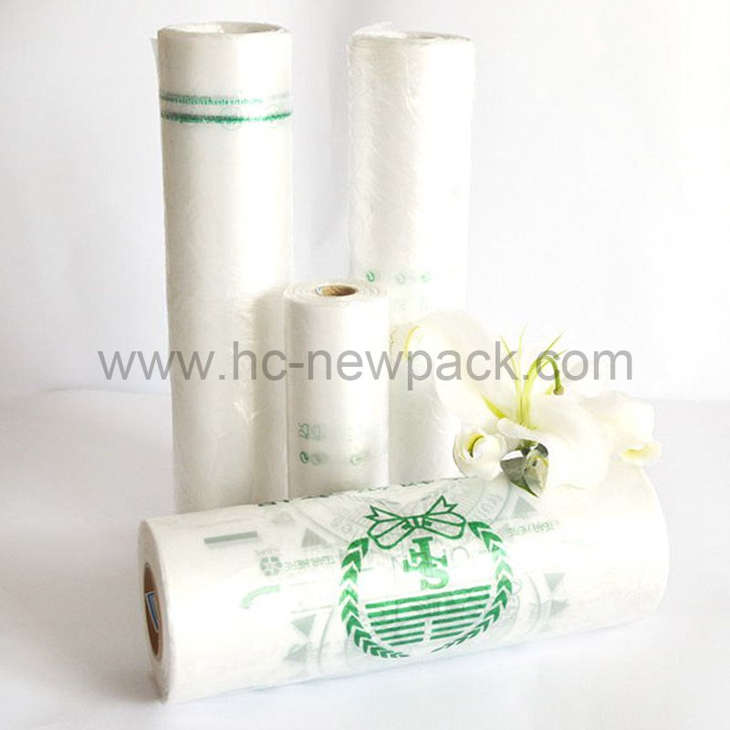 Hdpe / Ldpe Flat-Bags on roll, vegetables , Fruit bags